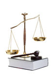 justice-golden-scales-gavel-law-book-white-background-30500691
