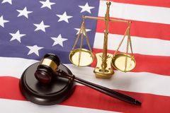 justice-scale-wood-gavel-usa-flag-wooden-brown-50542118